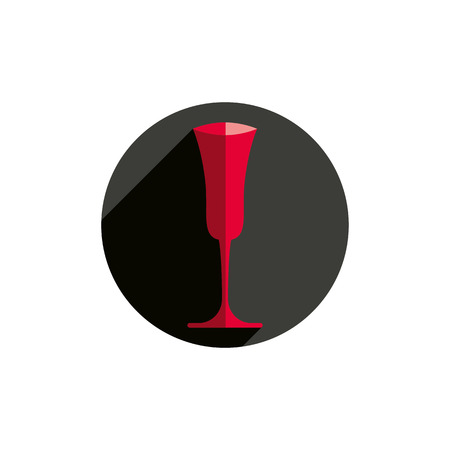 revelry: HoReCa graphic element, sophisticated champagne glass. Alcohol theme conceptual symbol, for use in advertising. Illustration