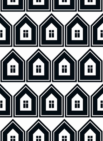 frontage: Simple houses vector continuous background. Property developer conceptual elements, real estate theme.  Building modeling and engineering projects idea seamless pattern.