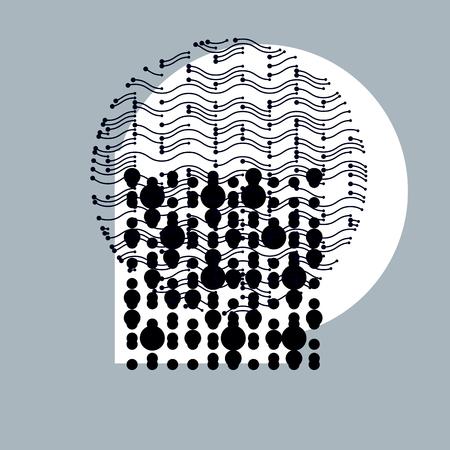 rhythm rhythmic: Abstract vector background, geometric illustration.
