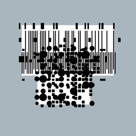 rhythm: Abstract vector background, geometric illustration.