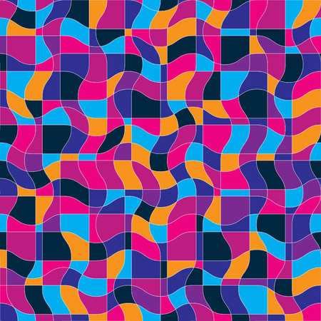 undulate: Bright vector endless pattern created with thin undulate stripes, seamless netting composition. Continuous interlace texture can be used as website background and as wrapping paper.