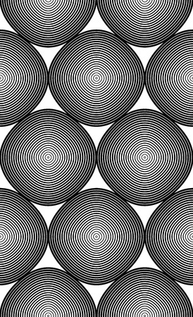 intertwine: Black and white vector ornamental pattern, seamless art background decorated with monochrome lines, best for graphic and web design. Geometric ornate decoration. Illustration