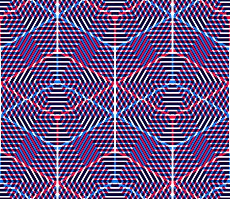 intertwine: Regular colorful endless pattern with intertwine three-dimensional figures, continuous illusory geometric background, clear EPS10.