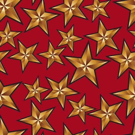 pentagonal: Celebration idea vector background, pentagonal golden stars. Seamless background with festive stars, for use in decorating, graphic design and as wallpapers.