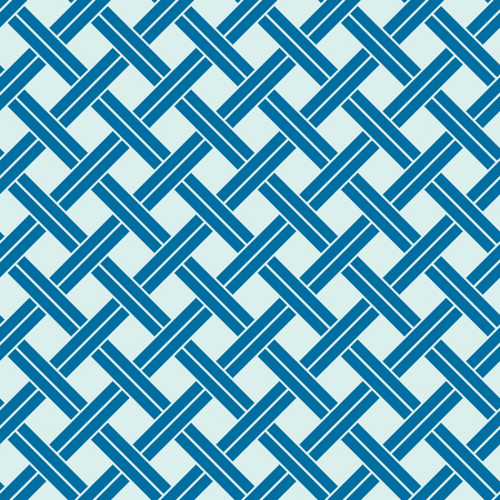 interlace: Vector abstract seamless composition best for use in textile and fabric, symmetric ornate background created with grid, netting