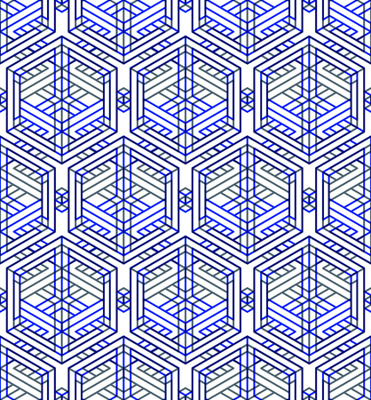 superimpose: Graphic seamless abstract pattern, regular geometric colorful 3d background. Contrast ornament, EPS10 transparent backdrop. Illustration