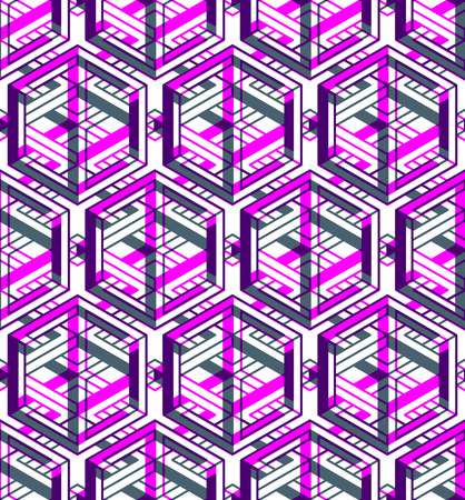 Contemporary abstract endless EPS10 background, three-dimensional repeated pattern. Decorative graphic entwine transparent ornament.