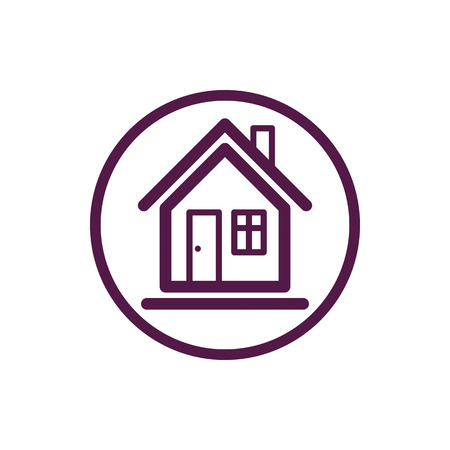 advertising agency: Home vector symbol, estate agency theme, can be used in advertising and web design. Property simple icon isolated on white.