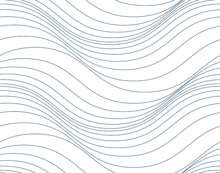 Vector ornamental continuous background made using undulate lines and curves. Monochrome netting composition can be used as wallpaper pattern.