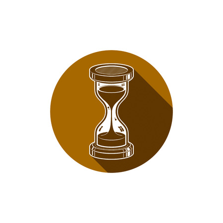 Time without end conceptual icon, web design element. 3d vector antique hourglass isolated on white. Time management idea.