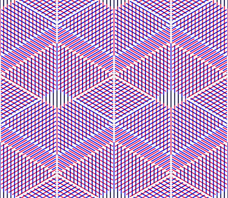 pellucid: Illusive continuous colorful pattern, decorative abstract background with 3d geometric figures. Bright transparent ornamental seamless backdrop, can be used for design and textile.