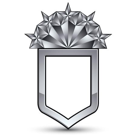 오 양식에 일치시키는 실버 스타, 웹 및 그래픽 디자인, 흰색 배경에 고립 된 기업 벡터 빛 아이콘에 사용하기에 가장와 상표가 붙은 회색 기하학적 기호입니다.