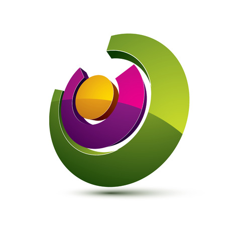 graphical user interface: Three-dimensional colorful graphical interface icon isolated on white, teamwork idea vector design element. Abstract web special symbol.