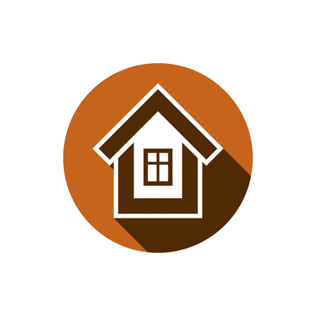 Real estate icon isolated on white, vector abstract house. Property developer symbol, conceptual sign, best for use in advertising