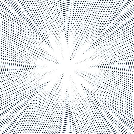 hypnotherapy: Striped  psychedelic background with black and white moire lines. Gradient optical pattern, motion effect tile.