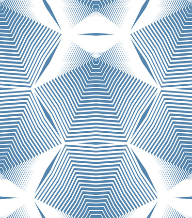 Colorful illusive abstract seamless pattern with geometric figures. Vector symmetric simple backdrop. Vektorové ilustrace