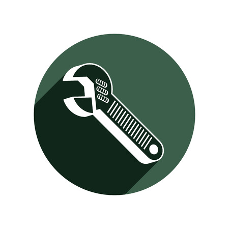 adjustable: Adjustable wrench isolated on white, repair tool 3d vector icon. Manufacture theme design element, detailed illustration of work instrument.