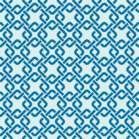 interlace: Graphic simple splicing ornamental tile, vector repeated pattern made using interlace squares. Vintage art abstract seamless texture can be used as wallpaper and in textile design.