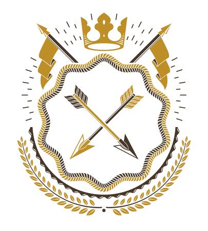 arsenal: Vector emblem, vintage heraldic design. Illustration