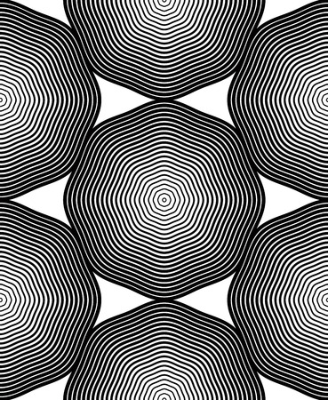 graphical: Ornate vector monochrome abstract background with black lines. Symmetric decorative graphical pattern, geometric illustration.
