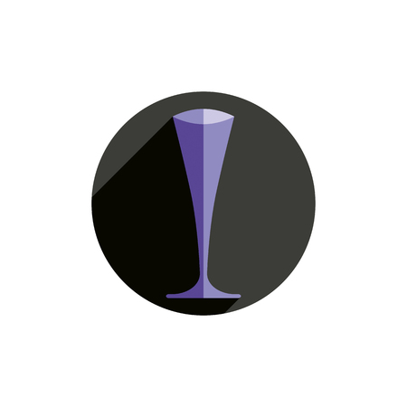 bocal: HoReCa graphic element, sophisticated champagne glass. Alcohol theme conceptual symbol, for use in advertising. Illustration
