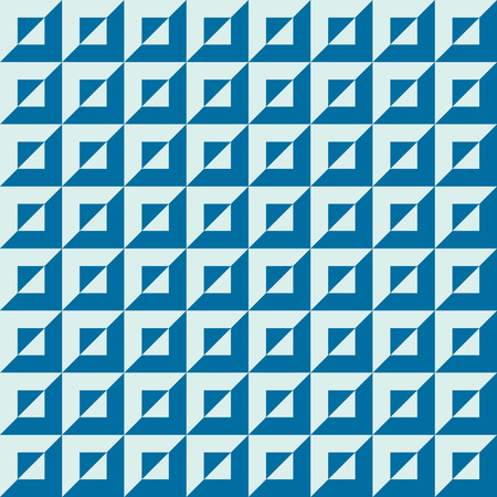 Graphic simple ornamental tile, vector repeated pattern made using squares. Vintage art abstract seamless texture can be used as wallpaper and in textile design.