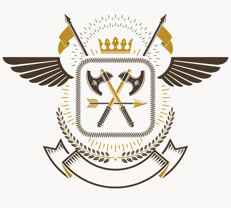 armory: Heraldic Coat of Arms, vintage vector emblem.