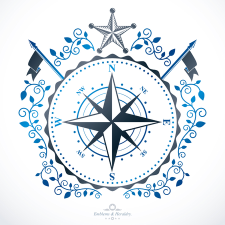 Heraldic coat of arms decorative emblem. Illustration
