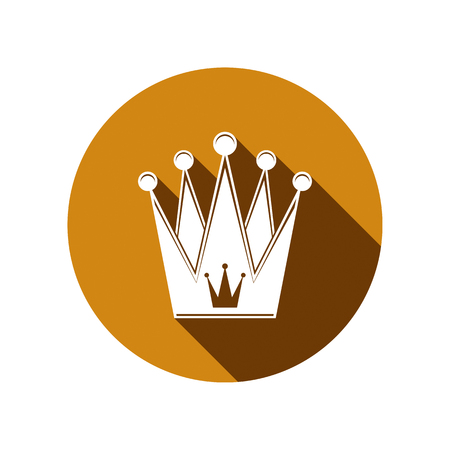 regal: Royal design element, regal icon. Stylish majestic 3d crown, luxury coronet illustration. Imperial three-dimensional symbol. Illustration