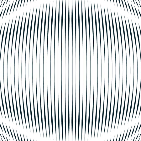 interference: Striped  psychedelic background with black and white moire lines. Gradient optical pattern, motion effect tile.