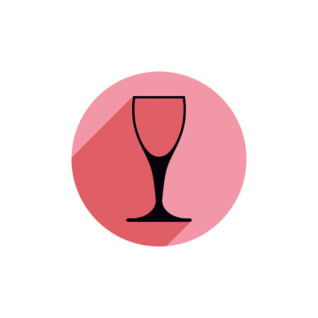 rendezvous: Sophisticated wine goblet, stylish alcohol theme illustration. Classic wineglass, romantic rendezvous idea.