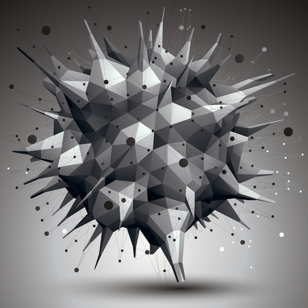 facet: 3D mesh modern stylish abstract construction, origami facet object constructed from different geometric parts.