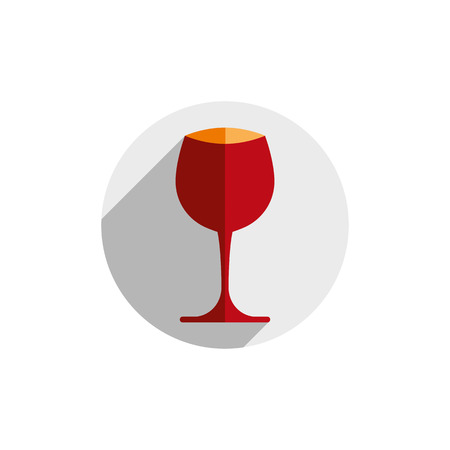 Winery theme, decorative stylish wine goblet. Wine tasting conceptual symbol, graphic design element for use in advertising. Illustration