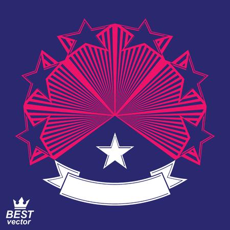 Vector corporate design element, celebrative stars web emblem. Union and solidarity theme – eps8 heraldic object. Illustration