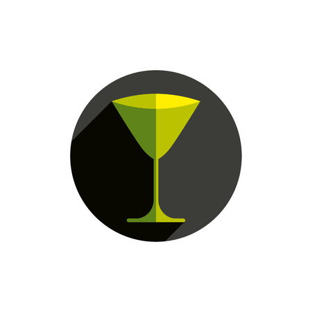sophisticate: HoReCa graphic element, sophisticated martini glass. Alcohol theme conceptual symbol, party and leisure idea.