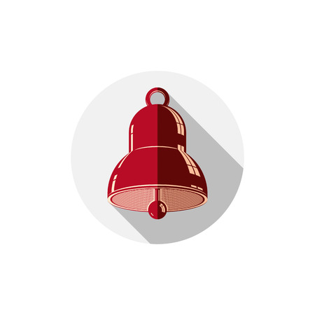 Time is running out theme symbol. Alarm conceptual graphic icon, for use in design and marketing. Waiter calling bell.