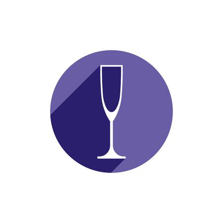 Lifestyle idée symbole conceptuel, verre de champagne classique isolé sur blanc. élément de design d'alcool peut être utilisé dans la publicité.