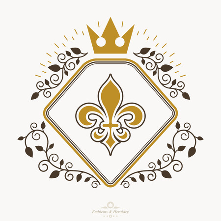 Heraldic sign, element, heraldry emblem, insignia, sign, vector.