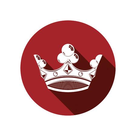 coronet: Royal design element, regal icon. Stylish majestic 3d crown, luxury coronet illustration. Imperial three-dimensional symbol. Illustration