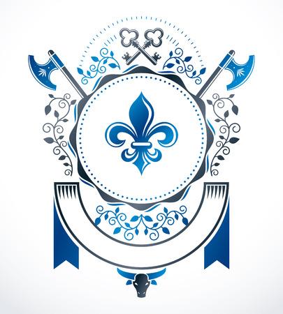 Heraldic Coat of Arms, vintage vector emblem.