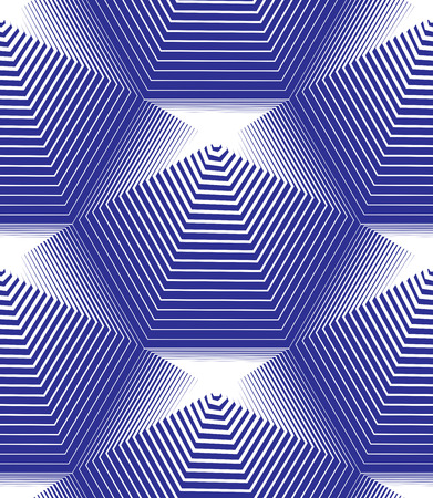 Vector stripy endless pattern, art continuous geometric background with graphic lines.