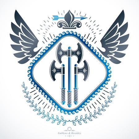 arsenal: Luxury heraldic vector emblem template. Vector blazon.