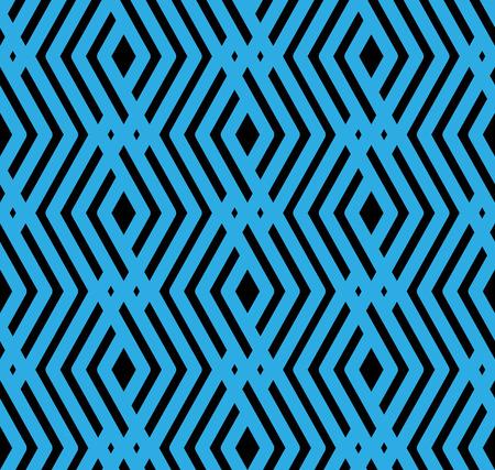 Blue rhythmic textured endless pattern, overlay continuous creative textile, geometric motif background with rhombs.