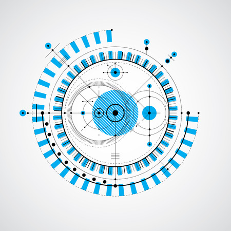 Vector engineering technological background, futuristic technical plan, mechanism in blue color. Mechanical scheme, abstract industrial design can be used as website background.