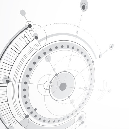 dashed: 3d engineering technology vector backdrop. Futuristic technical plan, mechanism. Monochrome mechanical scheme, dimensional abstract industrial design can be used as website background.