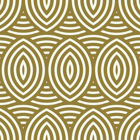 interweave: Vector seamless pattern, graphic geometric wrapping paper. Abstract backdrop created with interweave undulate lines and circles can be used in textile and web designs