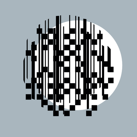 coded: Abstract vector background, geometric illustration.