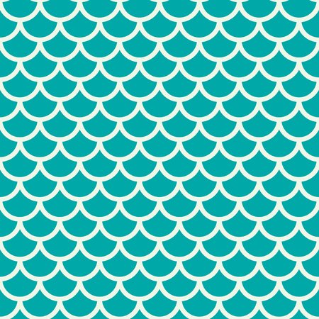 fish scale: Vector geometric seamless pattern, abstract endless composition created with overlay circular shapes. Fish scale theme colorful background.