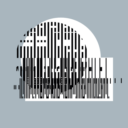 encoding: Abstract vector background, geometric illustration.
