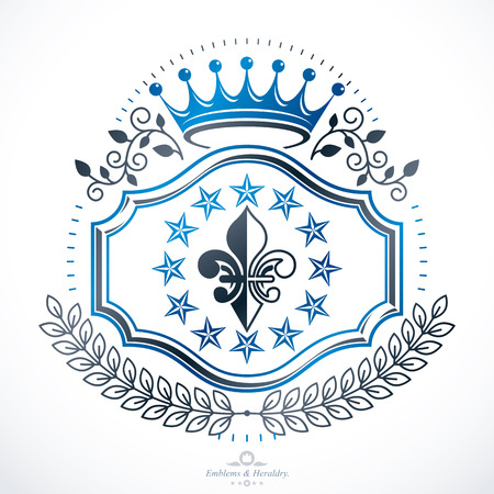 armory: Vintage award design, vintage heraldic Coat of Arms. Vector emblem. Illustration